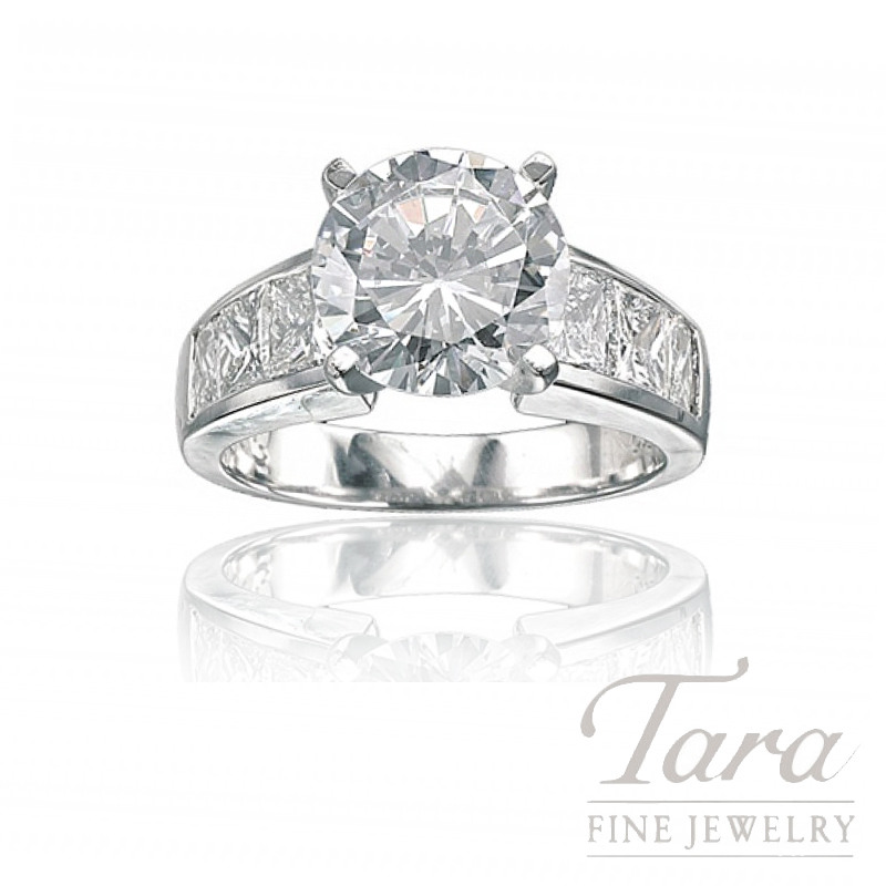 J.B. Star Platinum Diamond Engagement Ring, 1.58TDW (Center stone sold separately)