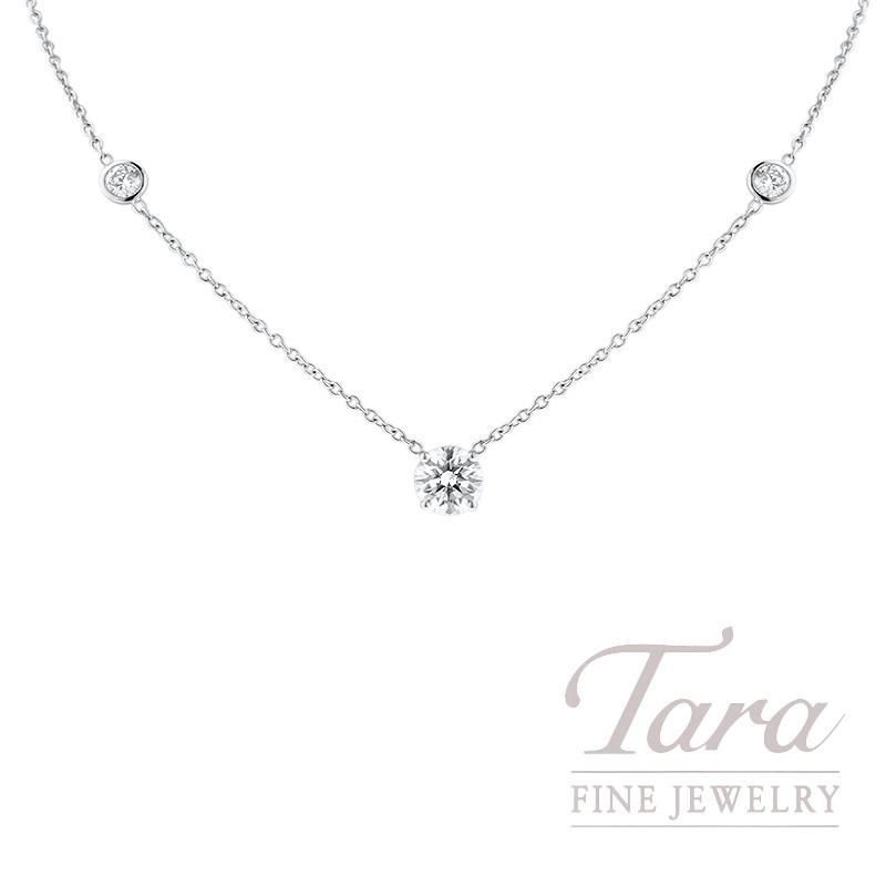 Foevermark 18k White Gold Diamond Necklace, 1.62CT J-VS2 Center, .66TDW