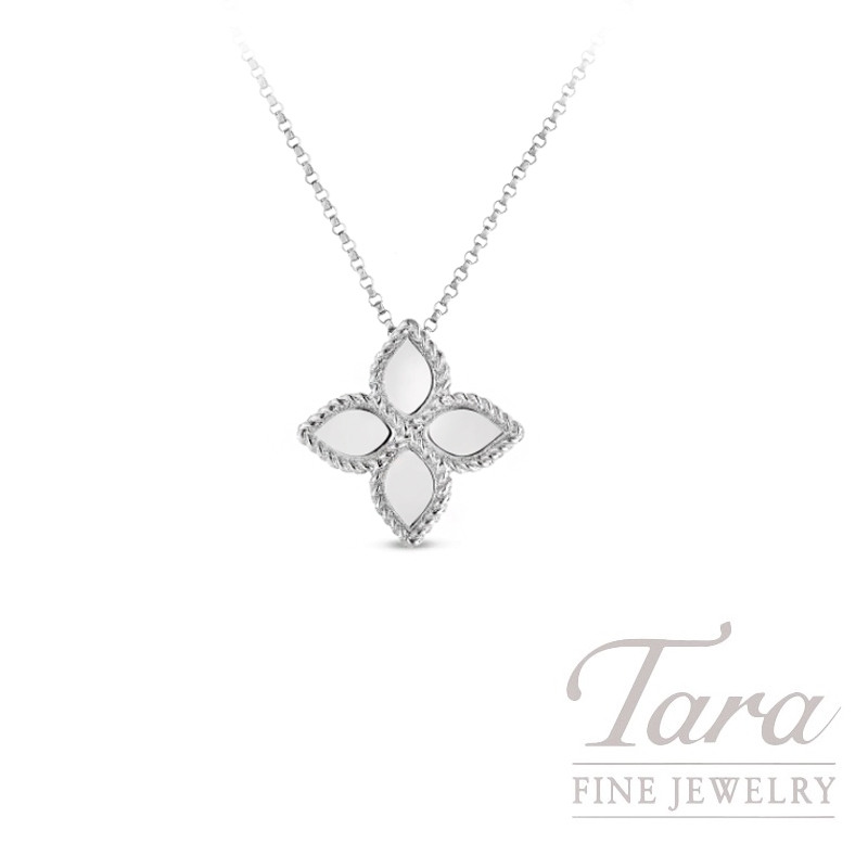 Roberto Coin 18k White Gold Flower Princess Pendant, Flower Princess Collection