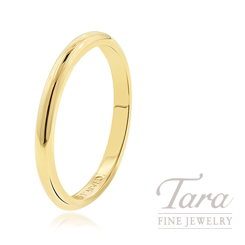 18K Yellow Gold Stackable Band, 2.3G