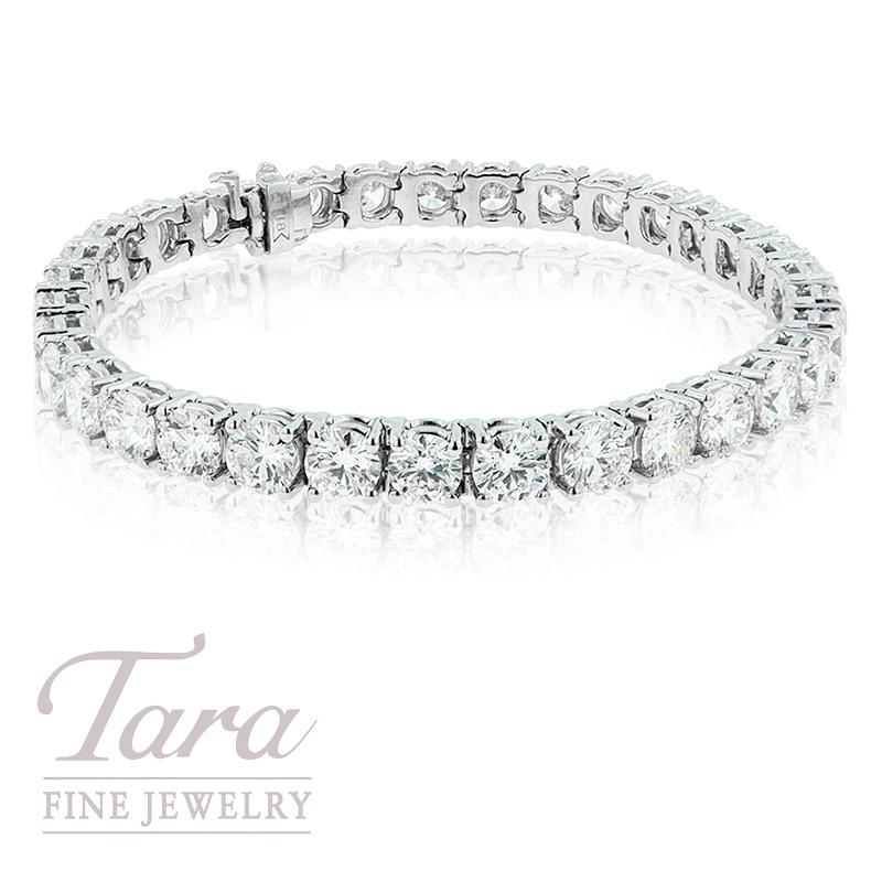 Forevermark Diamond Tennis Bracelet, 18K White Gold, 10.81TDW