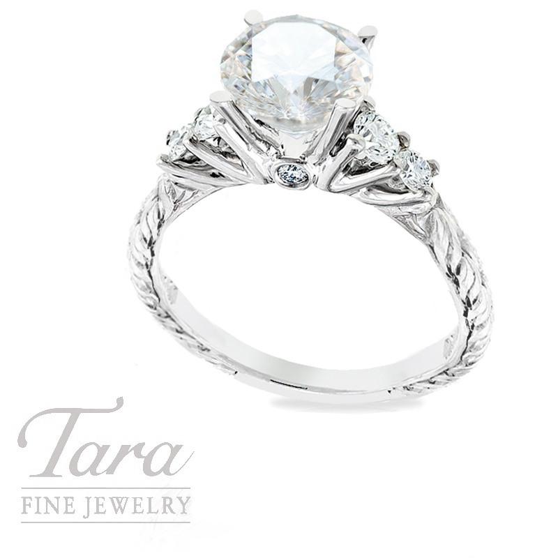Scott Kay Diamond Ring in 19k White Gold, .42TDW(Center stone sold separately)