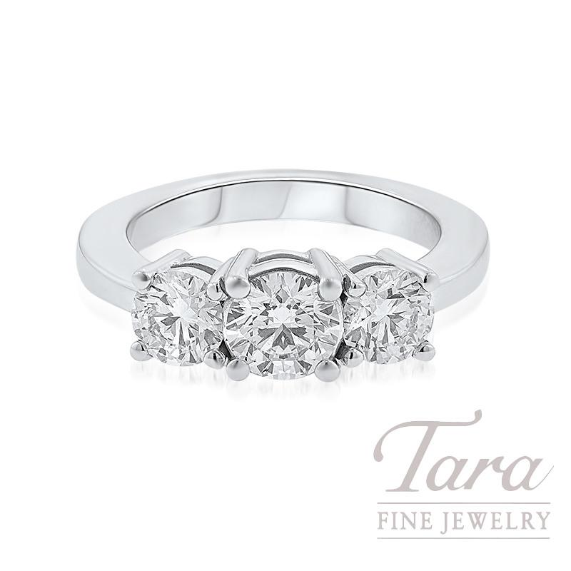 Forevermark 18K White Gold Diamond Engagement Ring, .85CT Round Diamond, 1.15TDW