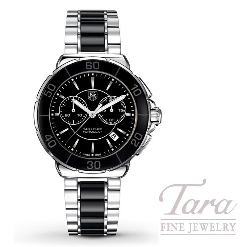 Tag Heuer Watch 41mm Formula 1 Chronograph, Black Dial