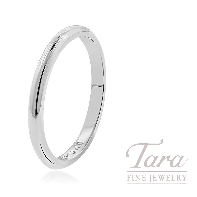 18K White Gold Stackable Band, 2.3G