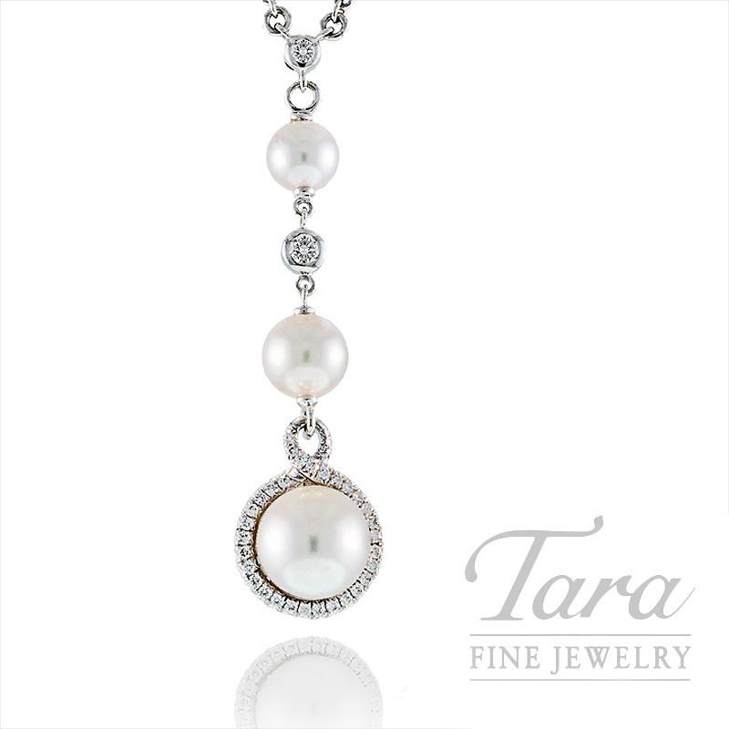 Mikimoto South Sea Pearl & Diamond Pendant with Chain, .17 CT TDW in 18K White Gold