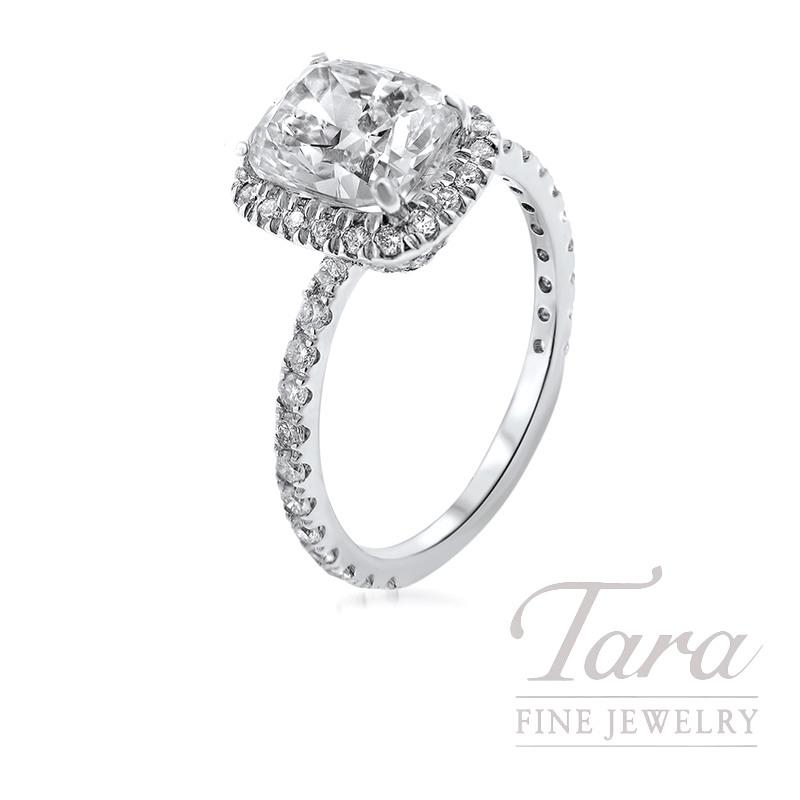 Forevermark 18K White Gold Engagement Ring, 2.37CT G-VVS1 Center, .62TDW