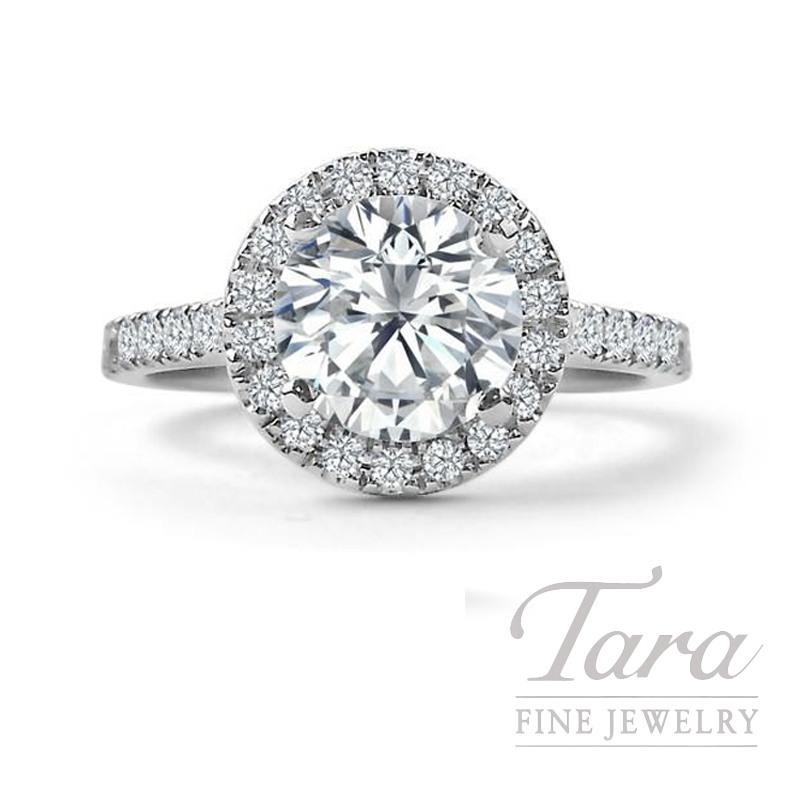 Forevermark 18k White Gold Diamond Halo Engagement Ring, 1.00CT G-VS2 Center, .37TDW