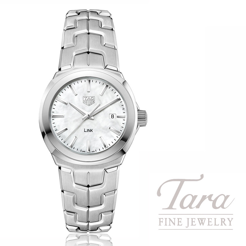 Tag Heuer Watch 32mm Link, Mother of Pearl Dial