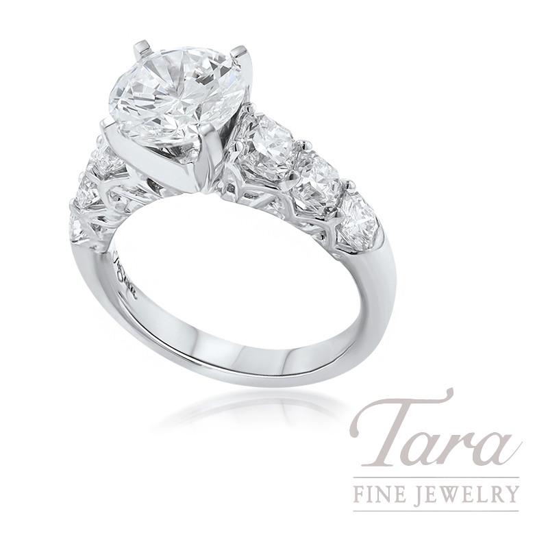 J.B. Star Platinum Diamond Engagement Ring, 9.8G, 2.00TDW (Center Stone Sold Separately)