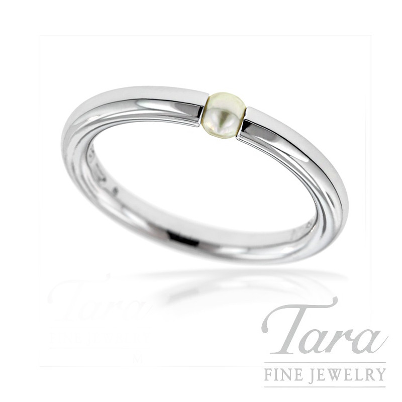 Mikimoto Pearl Ring in 18K White Gold 3X3.5MM