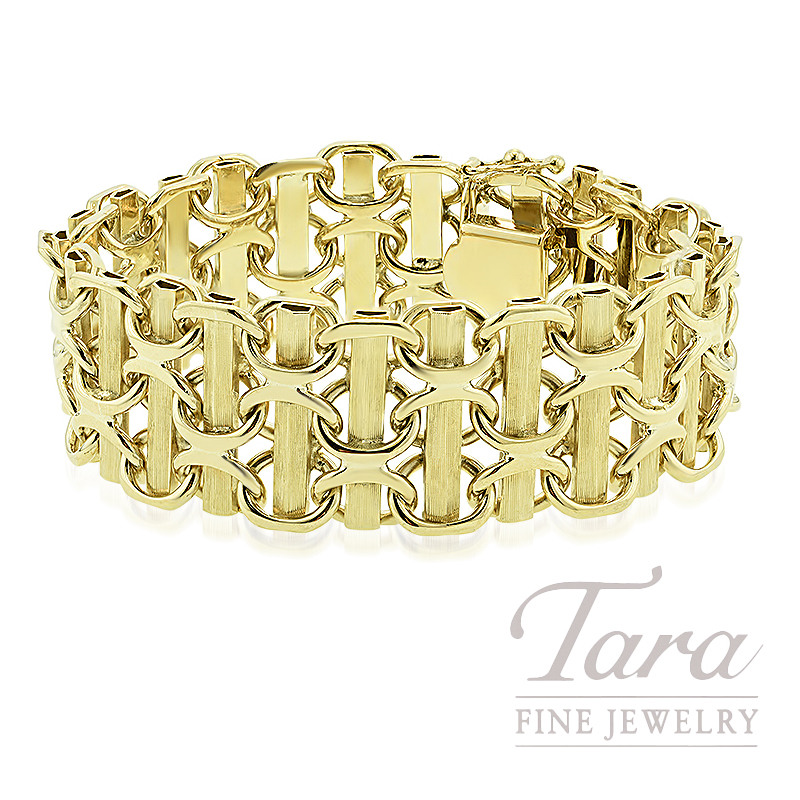 Estate 14k Yellow Gold Bracelet, 77.7G