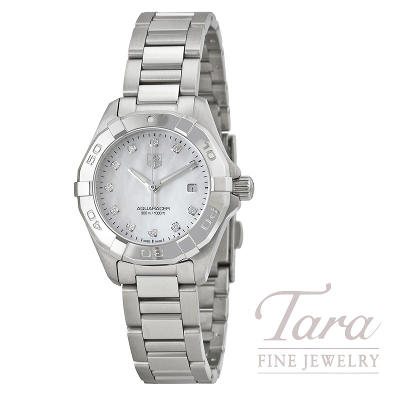 Tag Heuer Watch 27mm Aquaracer, .07TDW, Mother Of Pearl Dial