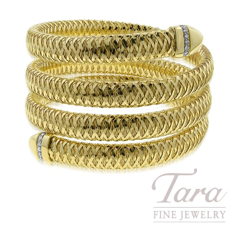 Roberto Coin 18K Yellow Gold Primavera Flex Bracelet, .20TDW